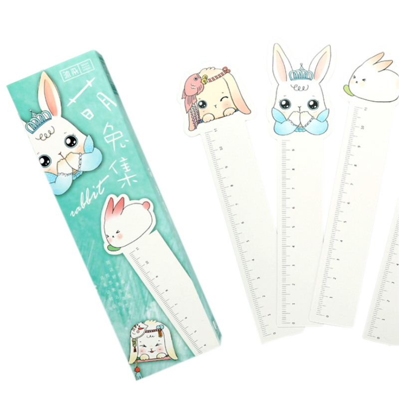 30pcs/lot Cute Cartoon Rabbit Series Blank Bookmark Diy Tool Gifts For Reader With Measuring Ruler Stationery
