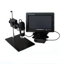 Sale 8 LED Lights Illuminant 20X/400X USB Zoom Camera Magnifier Portable Digital Video Microscope with Stand & LCD Displayer