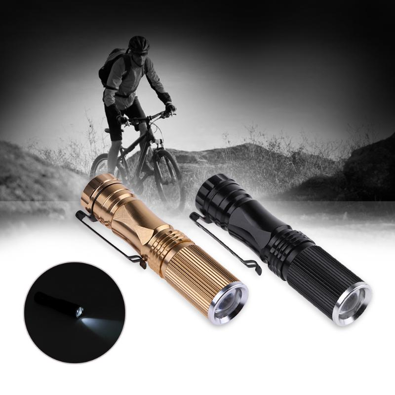LED Flashlight Zoom Waterproof Flashlight Mini Pocket Telescopic Zoomable Light use 1*AA Battery Powered Torch