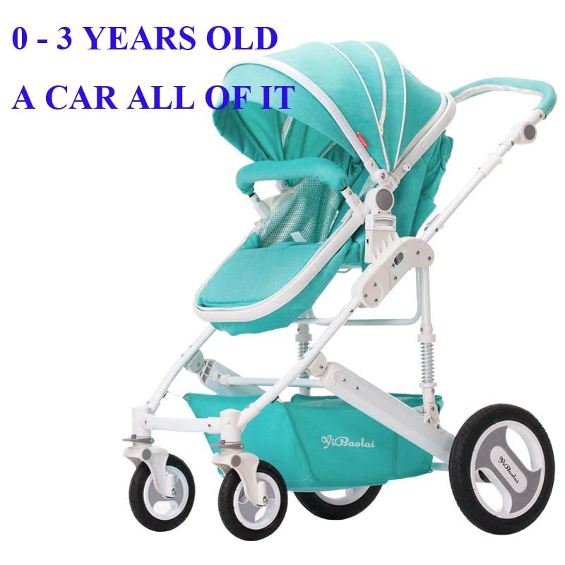 Wózek spacerowy wysoki krajobraz może siedzieć w wózku letnim i - Aktywność i sprzęt dla dzieci - Zdjęcie 2