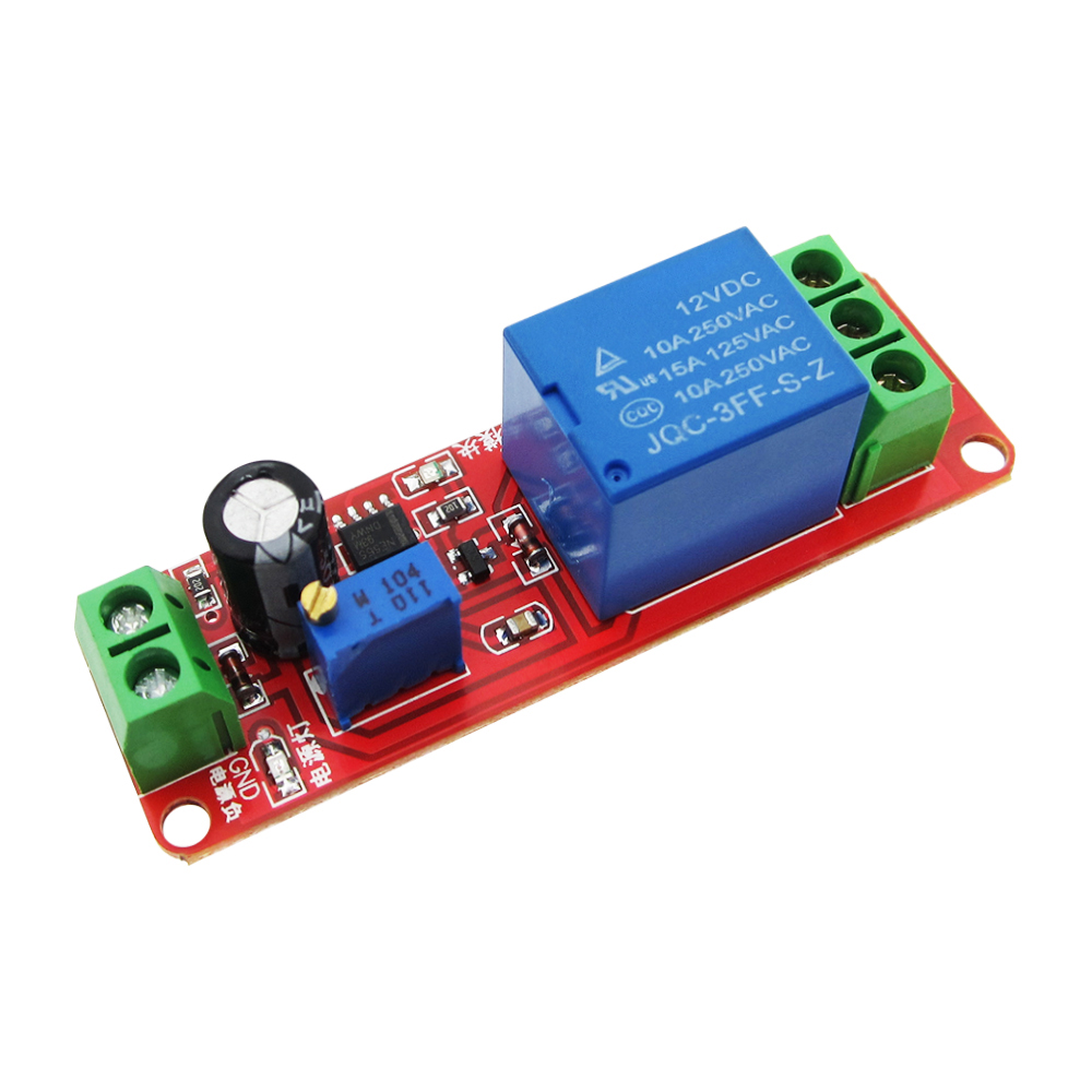 NE555 Timer Switch Adjustable Module Time delay relay Module DC 12V Delay relay shield 0~10S dc 12v relay multifunction self lock relay plc cycle timer module delay time switch