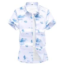 Flower Shirt Large size Summer Short sleeves Floral Hawaiian Man Beach style Blouse Men New