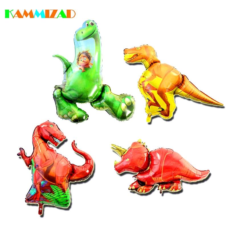 Динозавр Воздушные шары 3D алюминия Фольга надувной детский День рождения игрушки, украшения баллон Юрского периода джунгли Животные