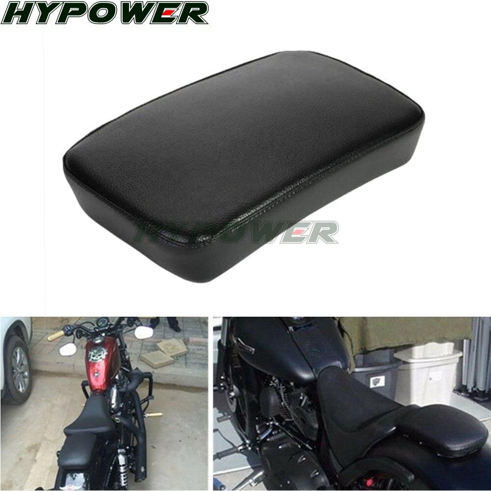 Coj/ín Amortiguador de Asiento Trasero de Pasajeros con 6 Ventosas para Harley Dyna Sportster Softail Touring