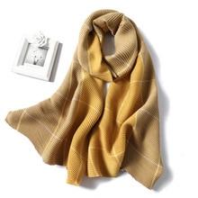 2020 Winter Scarf for Women Fashion Plaid Fold Cashmere Scarves Neck Warm Thick Shawl Wrap Lady Pashmina Bandana Female Foulard