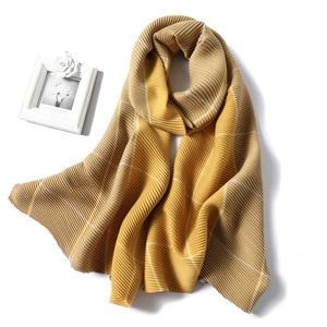 Image 1 - 2020 Winter Scarf for Women Fashion Plaid Fold Cashmere Scarves Neck Warm Thick Shawl Wrap Lady Pashmina Bandana Female Foulard