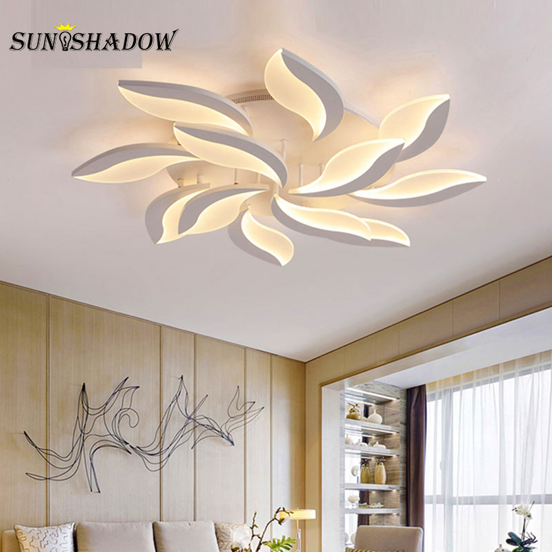 Image 4 - Living room LED Ceiling Light AC110 220V Acrylic Modern Chandelier Ceiling Lamp For Bedroom Study room Kitchen Dining Home Lamp-in Ceiling Lights from Lights & Lighting