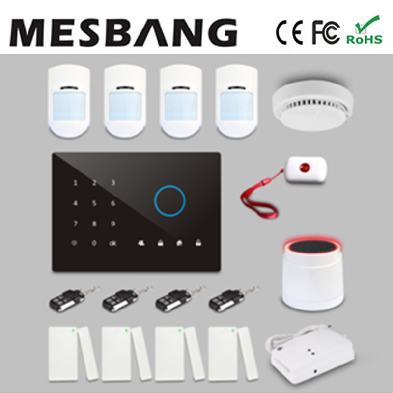home house office shop gsm alarm system with English, Russian, Spanish, German, French  with app control free shipping by DHL nokia 5800 shop by