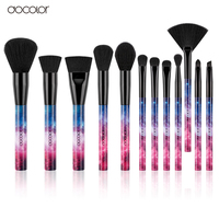 Docolor 12PCS Galaxy Makeup Brushes Professional Make Up Brushes Sky Night Handle Synthetic Hair With Gift