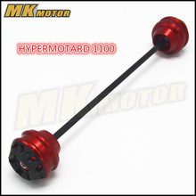 Free shipping for ducati HYPERMOTARD 1100 796 821 CNCAluminum Front &  Axle Fork Crash Sliders Wheel Protector