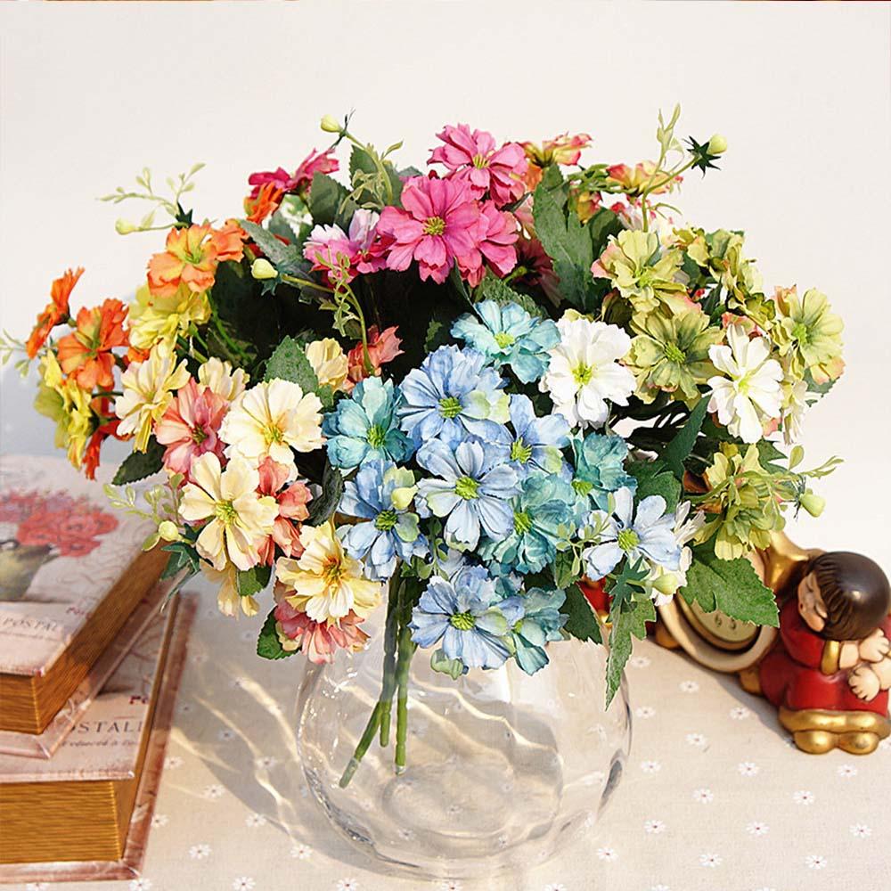 Künstliche Kleine Daisy Wilden Küken Xiaoyeju Frische Mit Gras Chrysantheme Kunststoff Blume Garten Hochzeit Hause Weihnachten Decor Haus & Garten Künstliche Dekorationen