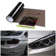100x30cm polegada luz carro preto fumaça farol luz de nevoeiro matiz filme envoltório vinil parte