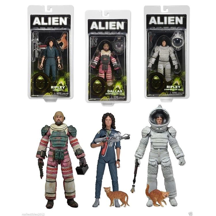 3PCS Ripley Jumpsuit Dallas Ripley Compression Nostromo Suit Spacesuit Sci-Fi Movie <font><b>Aliens</b></font> <font><b>Series</b></font> <font><b>4</b></font> <font><b>Action</b></font> <font><b>Figure</b></font> 18CM