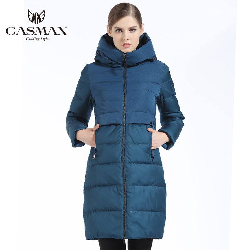 GASMAN 2019 Brand Women Winter Jacket And Coat Slim Long Women Thick Down Parka Hooded Women