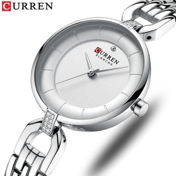 Relógio de pulso feminino Curren de quartzo modelo 9052