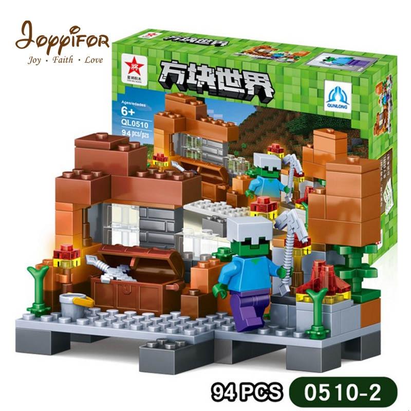 Joyyifor bloques mi mundo Compatible Legoed Minecrafted figuras ciudad bloques de construcción conjunto de ladrillos educativos juguetes iluminadores