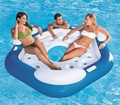 pool float sofa for 3-4 persons in 0.45mm pvc size 191x178cm max load weight 600kgs  with hand pump