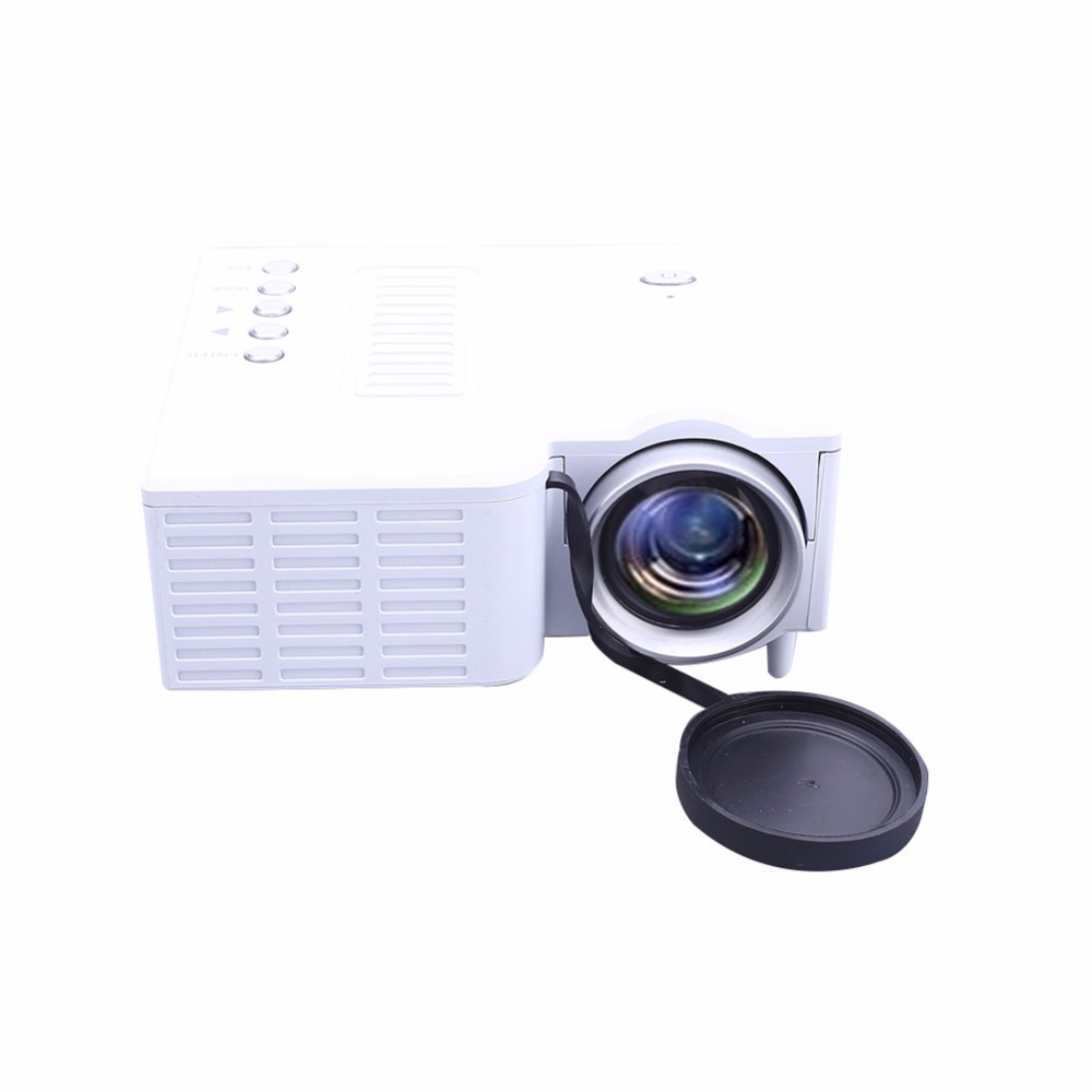 UC28B Projecteur Mini Portable Home Cinéma Cinéma Multimédia LED Vidéo Projecteur USB TF Carte US Plug