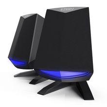 Игровая светодиодная мини Портативная динамики с питанием от USB Bass 2,0 для ноутбука компьютера ПК 3,5 мм звуковой громкоговоритель для мобильных телефонов