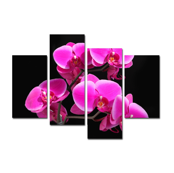 Sale Modular Pictures Bright colored Nice Flower Painting Canvas ...