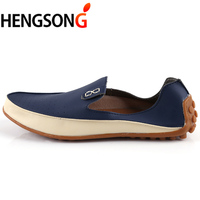 2017 New Fashion Men Loafers Luxury Brand Flats Shoes For Men Driving Shoes PU Leather Loafers