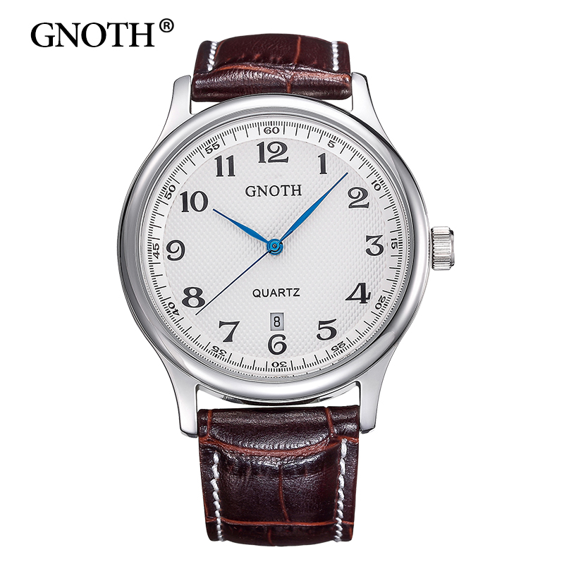 GNOTH Top Brand Men Watch Leather Quartz Analog Hour Fashion Sapphire Clock Male Waterproof Wristwatch Hot Sale 2017 New Arrival gnoth top brand men watch leather quartz analog hour fashion sapphire clock male waterproof wristwatch hot sale 2017 new arrival