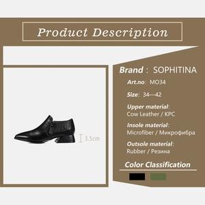 Image 5 - SOPHITINAสตรีปั๊มสแควร์สแควร์HeelสำนักงานวัวหนังPointed Toeซิปสบายๆรองเท้าสบายปั๊มMO34