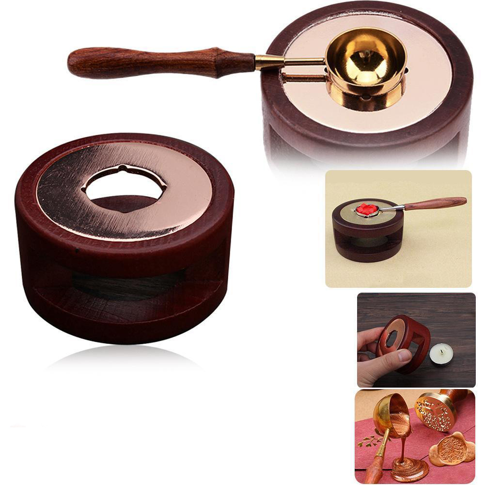 Vintage Stamp Wax Seal Beads Sticks Warmer Wax Sticks Melting Glue Furnace/Spoon Tool Stove Pot For Wax Seal Stamp Candle(China)