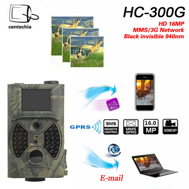 CENTECHIA HC300 Hunting Trail Camera HC-300M 940NM 12MP 1080P Video Night Vision MMS GPRS Scouting Infrared Game Hunter Camera