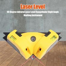 90 градусов пластик Инфракрасный лазерный уровень дальномер прямоугольный горизонтальный деревообрабатывающий линейка маркировка заземления инструменты