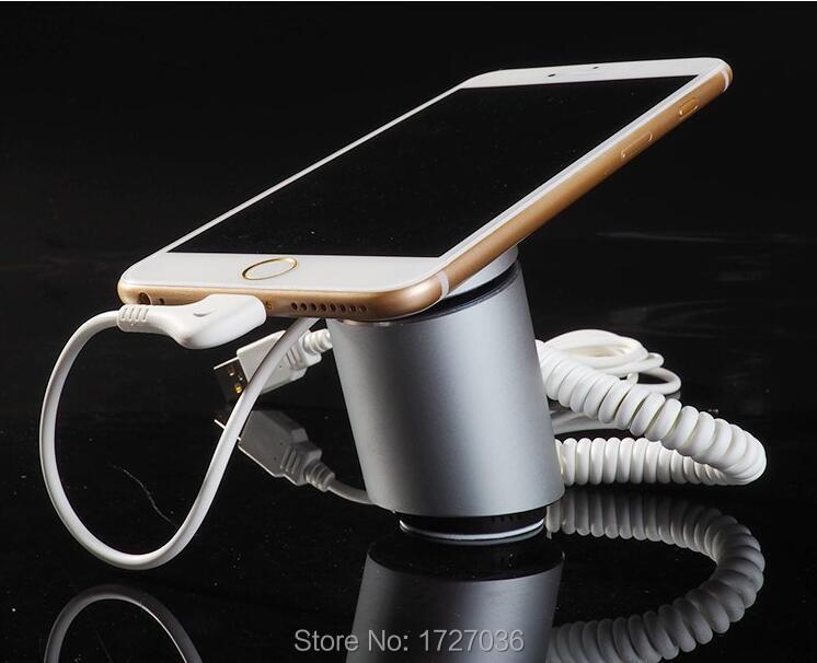 Présentoir Anti-vol de sécurité de téléphone portable avec alarme et fonction de charge pour l'exposition de magasin de détail de téléphone portable 5 pcs/lot