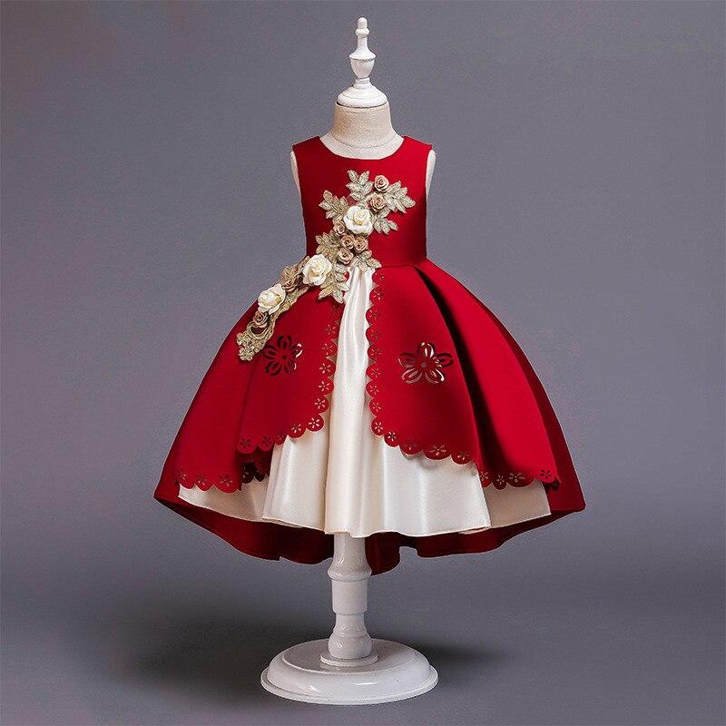 HTB1KkUbX.Y1gK0jSZFCq6AwqXXaL Girls Dress Christmas Kids Dresses For Girls Party Elegant Princess Dress For Girl Wedding Gown Children Clothing 3 6 8 10 Years