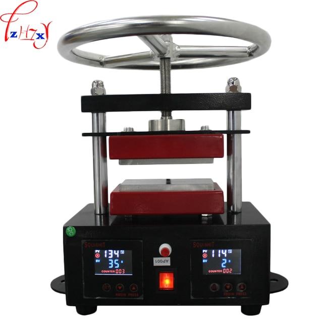 110/220 V 1000 W 1 PZ Ad Alta pressione piastra superiore macchina di stampaggio a caldo 6*12 CM mano spin colofonia macchina della pressa di stampaggio a caldo macchina yunlinli machinery Store