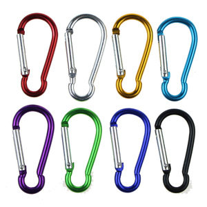 Image 4 - 5pcs צבעוני אלומיניום סגסוגת R בצורת Carabiner Keychain הוק אביב הצמד קליפ קמפינג טיולי טיפוס אבזר נסיעות ערכות