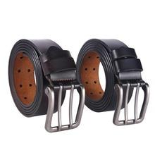 "Men's 140cm (55.12"") 150cm (59.06"") 160 Cm (62.99"") Large Size Double Pin Buckle Genuine Leather Belts"