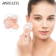 Ameizii 10Pcs Makeup Sponge Facial Powder Puff Kosmetik Beige Foundation Make Up Sponge Wanita Kecantikan Makeup Penopang Aksesoris(China)
