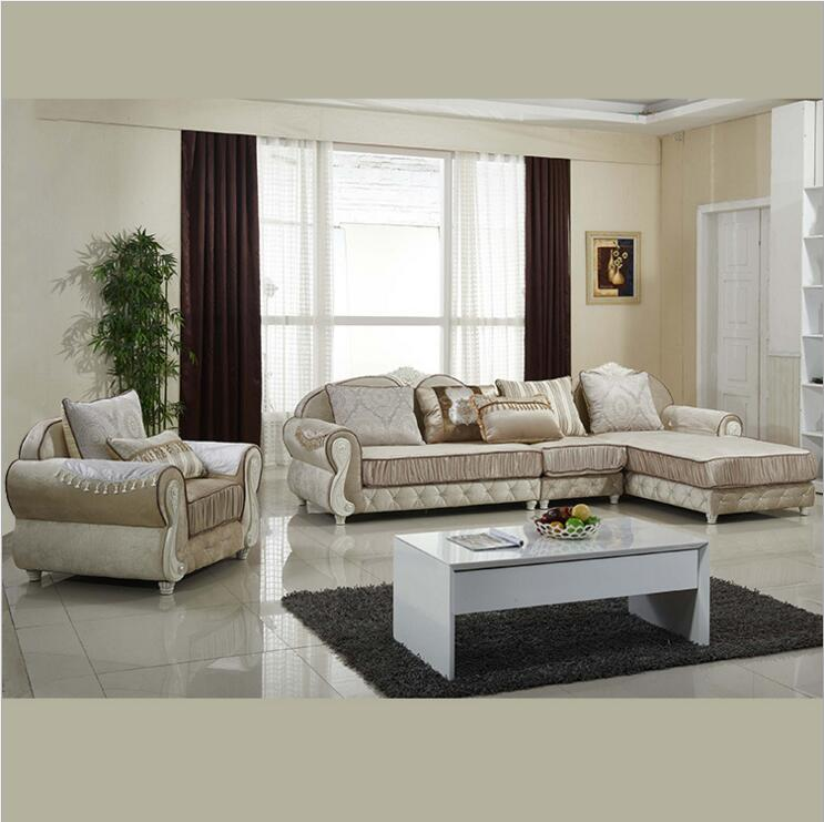 living room furniture modern fabric sofa European sectional sofa set a1278