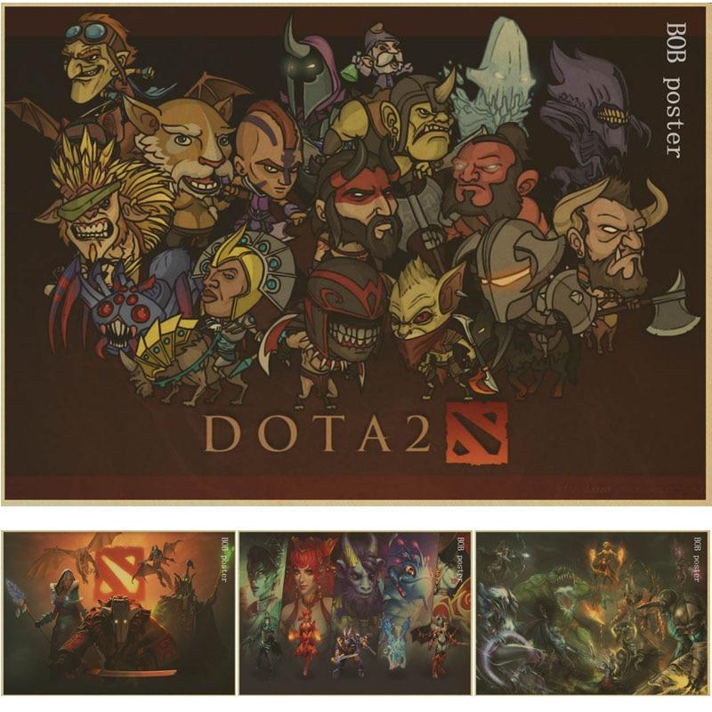 Custom Canvas Art Dota Game Poster Dota 2 Wall Stickers Heroes ...
