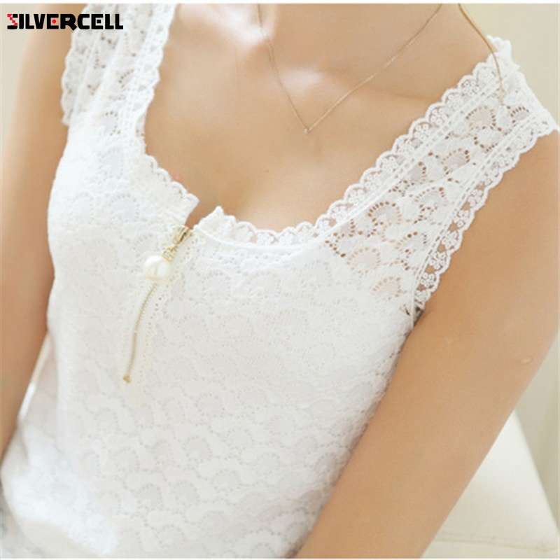 Tank     Tops   Summer Style Ladies Tube   Tops   White Lace Blouse Shirt 2017 S-XXXXL Fitness Hollow Out Sleeveless   Tank     Top   Women Camis