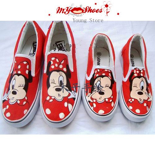 5db9b4f6d671 Mickey Mouse- Free shipping Hand Painted Shoes women  shoes children s shoes cartoon  shoes Canvas shoes DIY shoes  High quality