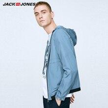 Jack Jones Марка 2018 Новинка мужский пиджак с капюшоном полиэстер 100%  ветрозащитая ткань повседневный фасон нательный стиль му. c5c3f804c0b2a