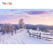 Yeele Winter Scenery Nice Sky Snow Mount Room Decor Photography Backdrops Personalized Photographic Backgrounds For Photo Studio