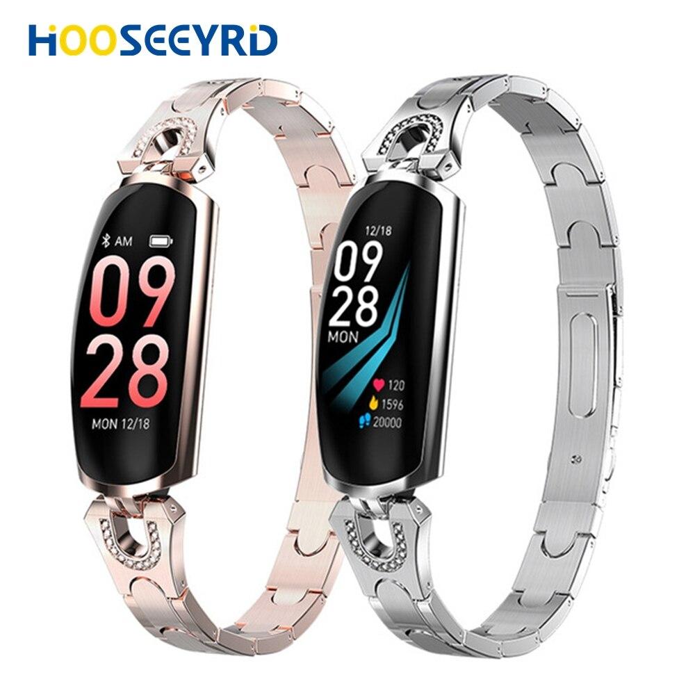 Montre intelligente femmes IP67 étanche moniteur de fréquence cardiaque pour Android IOS téléphone mode fille montre dame Fitness Bracelet Smartwatch