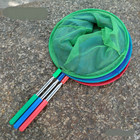 JU 1PCS Fishing Nets Stainless Steel Telescopic Net Fishing 5 Portable Ultra Short Aquarium Fish Net Children Outdoor Insect Net