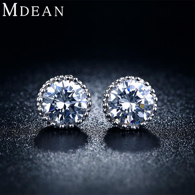 MDEAN Crown Stud Earrings...