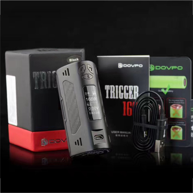 168W BOX MOD Original e cigarette Mod 168W for DOVPO TRIGGER 168W Box Mod Kit TC Box Primo Metal Body 510 Thread Mod Tank