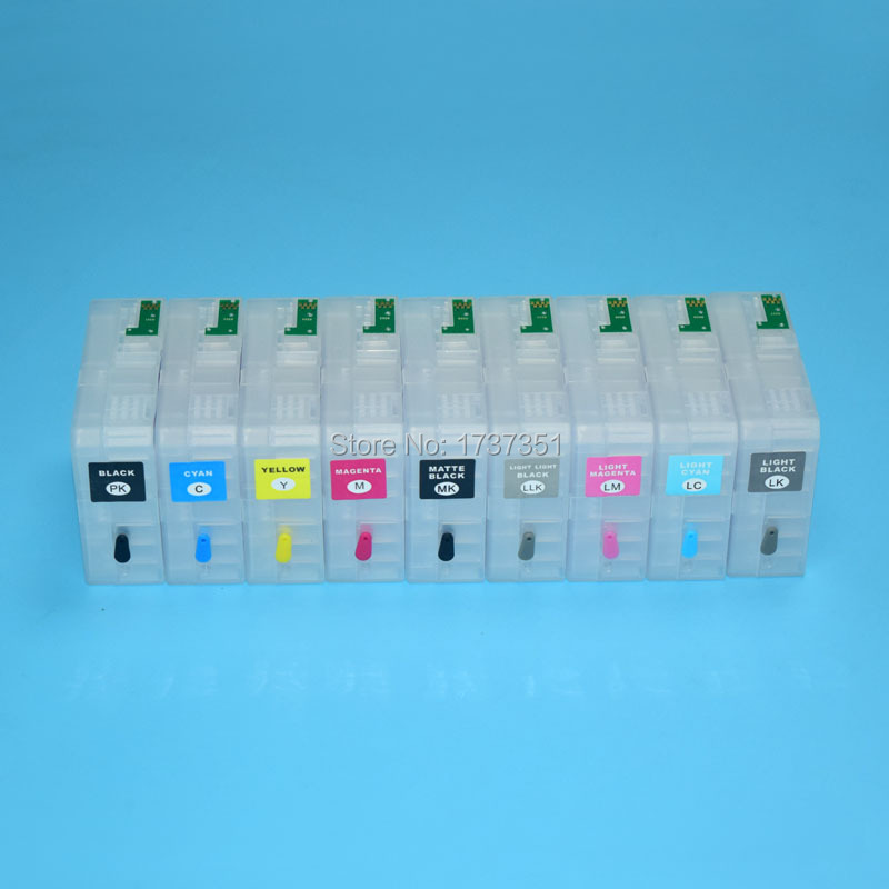 9color 80ml T5801 T5801-T5809 refill ink cartridge with chip sensor for Epson Stylus Pro 3880 все цены