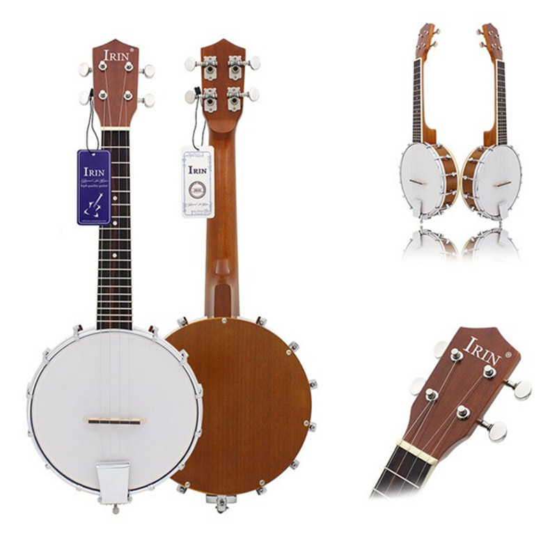 IRIN Four Strings Sapelli Banjo Exquisite Professional Four-string Okoume Neck Stringed Instruments Accessories high quality 5 string banjo top grade exquisite professional wood metal fast free shipping