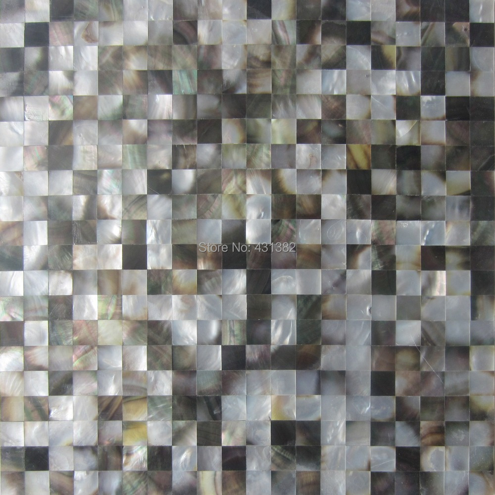 Mirror Tile Backsplash Kitchen Aliexpresscom Buy Blacklip Mother Of Pearl Tiles15x15