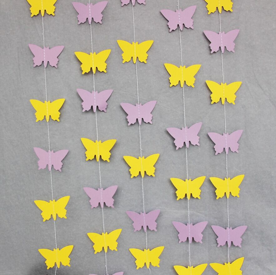 Butterfly Paper Garlands Butterfly Backdrop For Pictures Girlu0027s Birthday  Spring Wedding Decoration Faimly Garden Party Pack Of 3 In Party Backdrops  From ...